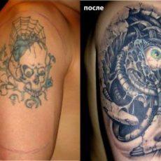 Исправление татуировок: до и после